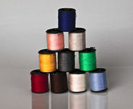 Colors in cotton reel Stock Photography