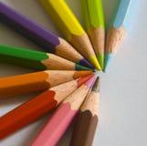 Colors crayons. Close up view of colors crayons stock photos