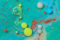 Colors created by oil and paint Stock Photos