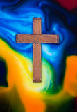 Colors Cross Wooden Stock Photo