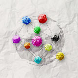 Colors crumpled paper as social network structure Royalty Free Stock Images
