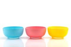 3 colors cup. Pink Stock Photos