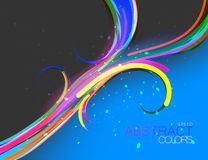 Colors curve flowing vector Royalty Free Stock Photos