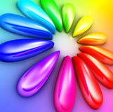 Colors. 3D rendering of an color concept Stock Image