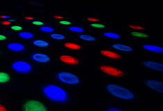 Colors in the dark. In a room where we dance Stock Photography