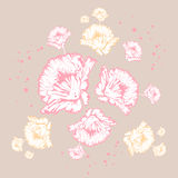 colors den blom- pastellfärgade modellen stock illustrationer
