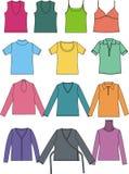 colors den olika vektorn för diagramskjortor t Arkivbilder