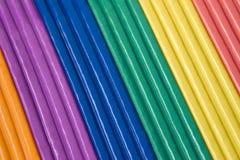 colors diagonal plasticine Arkivbilder