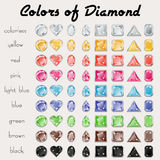 Colors of Diamond Stock Photos