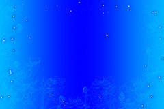 Colors diffuse background. Lotus line on blue colors diffuse background Royalty Free Illustration