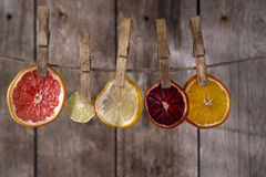 The colors of the dried citrus fruit Royalty Free Stock Photography