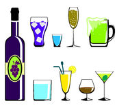 Colors drinks icon Stock Images
