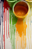 Colors drop on the wall Royalty Free Stock Images