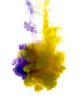 Colors dropped into liquid and photographed while in motion. Clo Royalty Free Stock Photo
