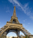 Colors of Eiffel Tower in Paris Royalty Free Stock Photography