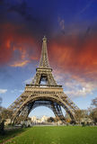 Colors of Eiffel Tower in Paris Royalty Free Stock Image