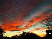 The colors of the evening sky. The Arizona sky sunsets don& x27;t disappoint Stock Photography