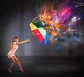 Colors explosion Royalty Free Stock Photography