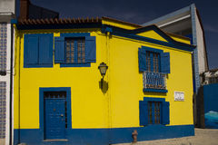Colors facades Aveiro Portugal royalty free stock image