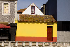 Colors facades Aveiro Portugal Stock Images
