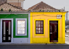 Colors facades Aveiro Portugal Royalty Free Stock Photos