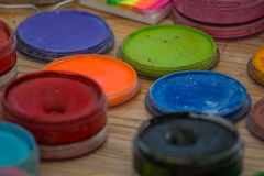 Colors for face painting Royalty Free Stock Image