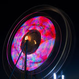 Colors at the Fair. Artistic photo of fair rides and colors at a night at the county fair Stock Photos