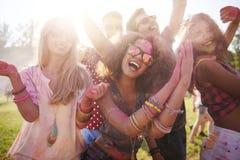colors festival royaltyfria foton