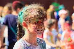 colors festivalholi royaltyfria bilder