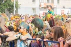 colors festivalholi målarfärger Fotografering för Bildbyråer