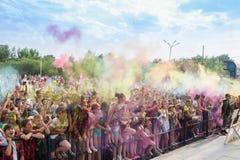 colors festivalholi målarfärger Royaltyfri Fotografi
