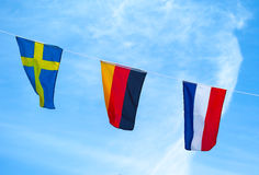 The colors Flag of Euro 2012. Flags, emblems, national colors of countries participants of EURO 2012 Stock Photos