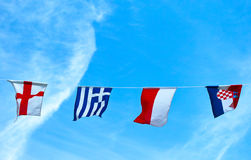 The colors Flag of Euro 2012. Flags, emblems, national colors of countries participants of EURO 2012 Stock Image