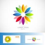 Colors flower logo Stock Photos