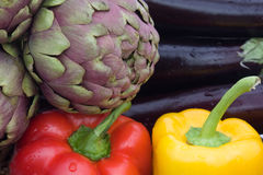 Colors Of Food-Green,Red,Yellow And Purple stock photo