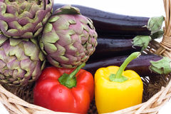 Colors Of Food-Green,Red,Yellow And Purple Stock Photos