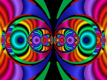 colors fractal40a stereo Διανυσματική απεικόνιση