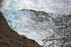 Colors of glacier. Westland Tai Poutini National Park,  New Zealand Royalty Free Stock Photo