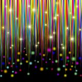 Colors and Glitter Stripes Abstract Pattern. Colored and bright background for party and Celebrations Stock Images