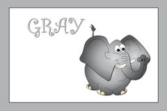 Colors: gray. Stock colors: color gray with elephant Royalty Free Stock Photography
