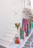 Colors of Greece - pictorial streets of Cycladic islands Stock Photos