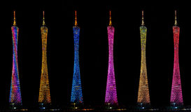 Colors of Guangzhou TV Tower Stock Photography