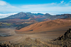 Colors of Haleakala crater Royalty Free Stock Photos