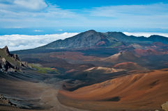 Colors of Haleakala crater Stock Image