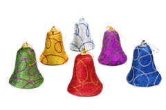 Colors handbell decoration for a new-year tree Stock Photography