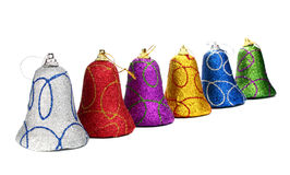 Colors handbell decoration for a new-year tree Royalty Free Stock Image