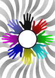 Colors hands Royalty Free Stock Photos