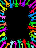 Colors hands up background Stock Image