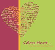 Colors heart card Royalty Free Stock Images