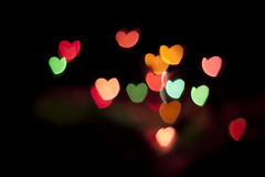 Colors hearts background Royalty Free Stock Image